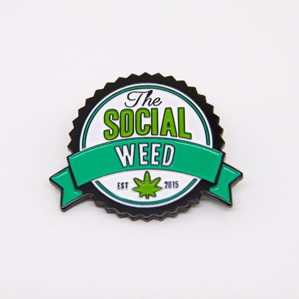 The Social Weed Lapel Pin