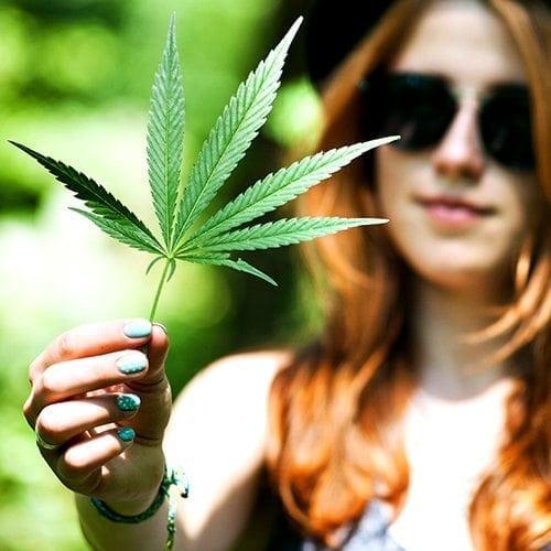 Marijuana Leaf Girl