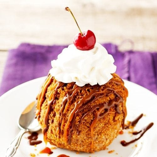 Deep Fried Churro Ice Cream