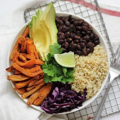 Black Bean Quinoa Bowl
