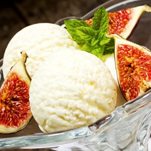 Fig and Mint Icecream