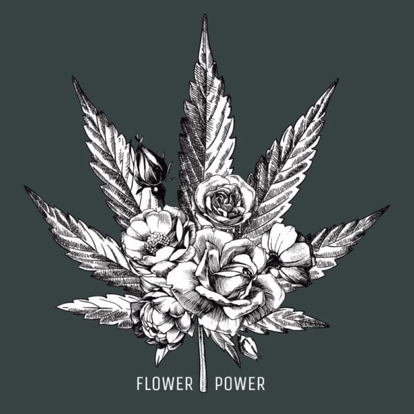 The Social Weed Flower Power Tshirt