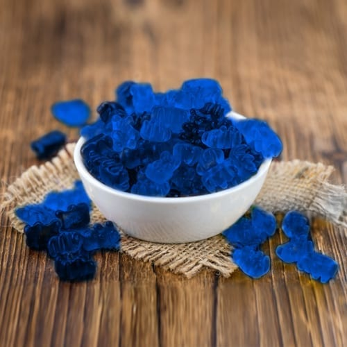 blue gummies