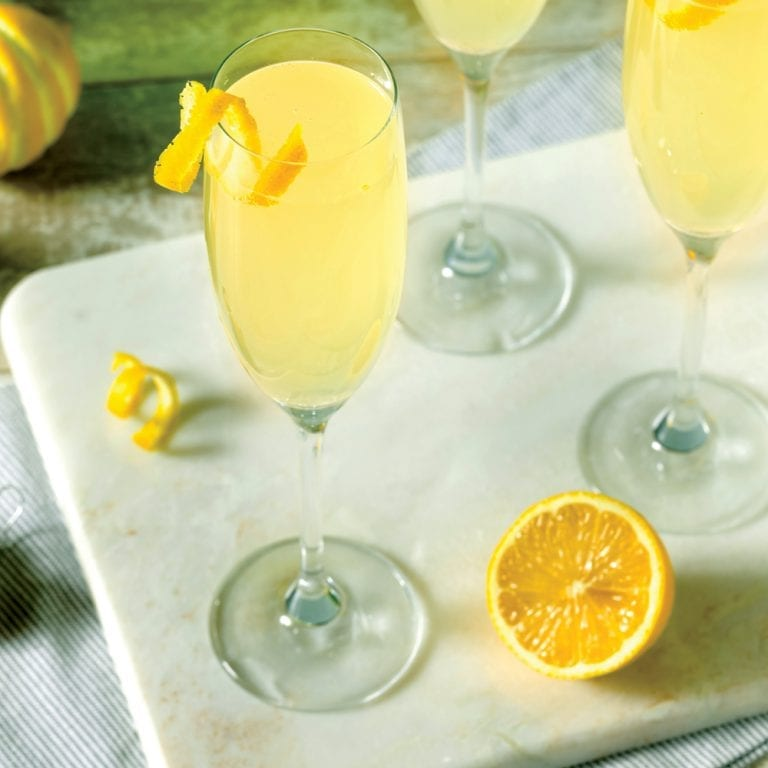 French 75 with Green Dragon
