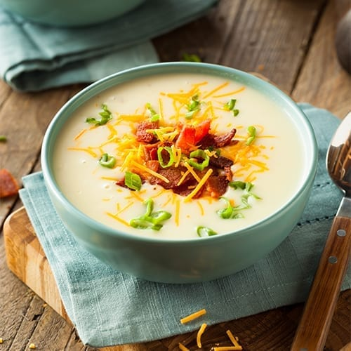 infused loaded baked potato soup