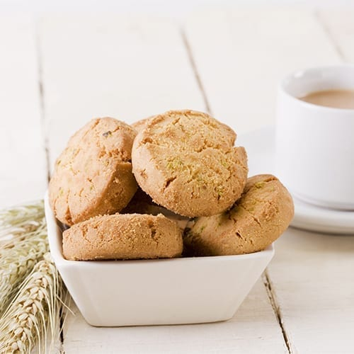 Tea biscuits in dish